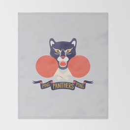 Ping Pong Panthers Throw Blanket