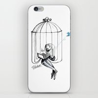 cage iPhone & iPod Skins featuring Cage by Eyad Shtaiwe