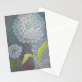 Cloudy Days Flowers Shine Stationery Cards