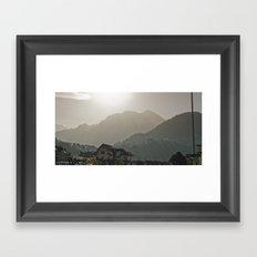 Achromatic Lumen Framed Art Print