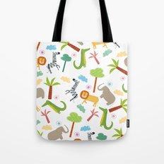 A HAPPY DAY  IN JUNGLE Tote Bag