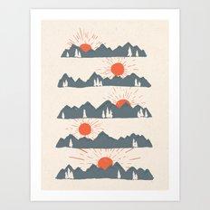 Sunrises... Sunsets... Art Print
