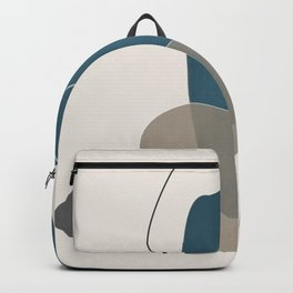 Abstract Glimpses in Aqua and Taupe Backpack