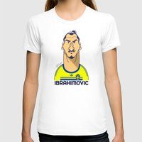zlatan T-shirts featuring Zlatan from Sweden by Rudi Gundersen