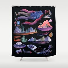 extraterrestrial Shower Curtain