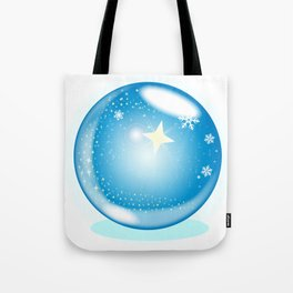 Christmas Star Globe Tote Bag
