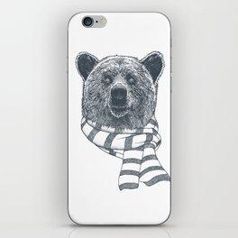Winter Bear Drawing iPhone Skin