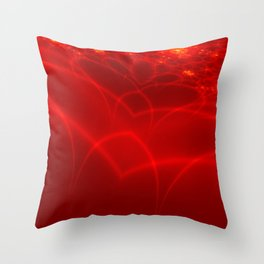 world of heart / welt der Herzen Throw Pillow
