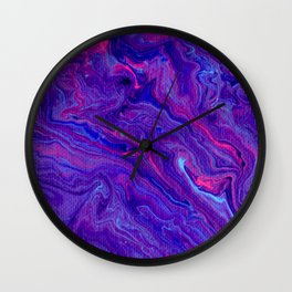 Paint Pouring 28 Wall Clock