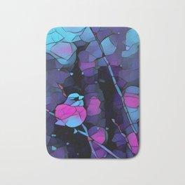 Junco Neon Pink Purple by CheyAnne Sexton Bath Mat