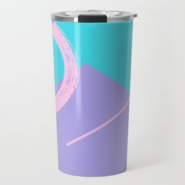 90s Pink Brow - Geometric Art Travel Mug