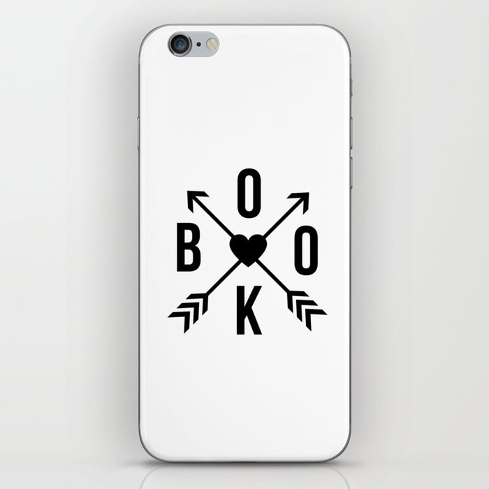 Book with Arrows and Heart iPhone Skin
