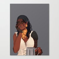dragon age Canvas Prints featuring Isabela - Dragon Age 2 by maltairs