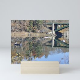 Shifting Totems & Fishing on the Delaware River Mini Art Print