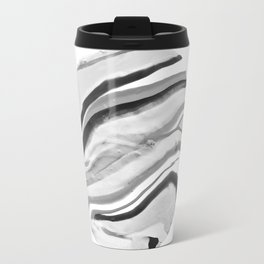 Shadow of Ourselves Marbling Marble Circle World Black and White Travel Mug