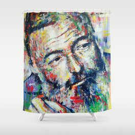 Ernest Hemingway Shower Curtain