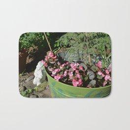 Sunkissed Garden Angel with Pink Begonias Bath Mat