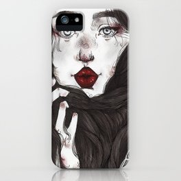 Lady Red Lips iPhone Case