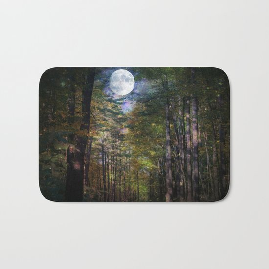 Magical Moonlit Forest Bath Mat
