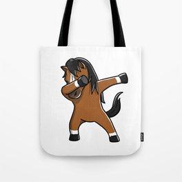 Funny Dabbing Horse Pet Dab Dance Tote Bag