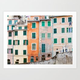 Cinque Terre Houses - Italy Travel Photography Art Print