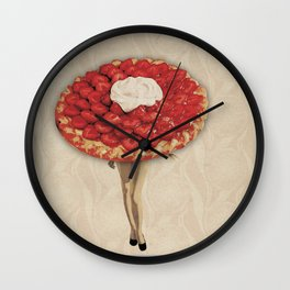 Miss Strawberry Pie #Society6 #BuyArt #Decor Wall Clock