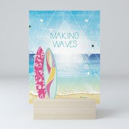 Making Waves - Sunset Mini Art Print