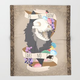 Do No Harm - Take No S#!T (censored) Throw Blanket