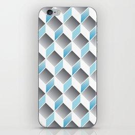 cubic pattern - geometric 3d design -seamless iPhone Skin