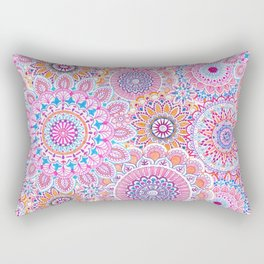 Mandala Maze Pink Rectangular Pillow
