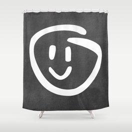 Chalkboard Wallies Shower Curtain