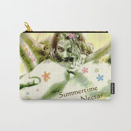 Summertime sweet nectar flower girl collecting pollen Carry-All Pouch
