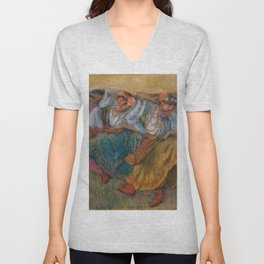 """Edgar Degas """"Russian dancers"""" Unisex V-Neck"""
