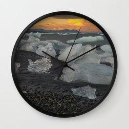 Jokulsarlon 4 Wall Clock