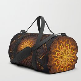 """Warm light Moroccan lantern Mandala"" Duffle Bag"