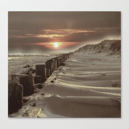 Fort Tilden Beach NYC sunset Canvas Print