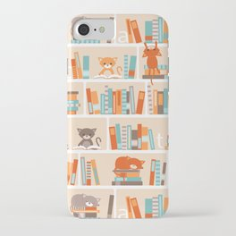 Library cats iPhone Case
