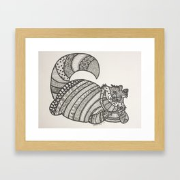 Cheshire Cat Zentangle Framed Art Print