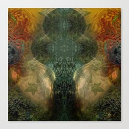 """The Inner Forest (caramel pattern)"" Canvas Print"