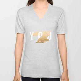 You Are Enough (Faux Gold Foil) Unisex V-Neck