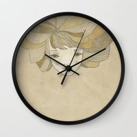 ginger Wall Clocks featuring Ginger by Natalia Ogneva