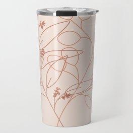 Eucalyptus Line Art Travel Mug
