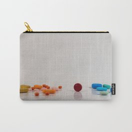 Colored medicines on a neutral background Carry-All Pouch