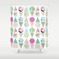 psychedelic Shower Curtains featuring Psychedelic by Catalina Montaña
