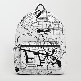 Amsterdam White on Black Street Map Backpack