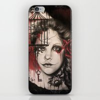 inner demons iPhone & iPod Skins featuring INNER DEMONS by Sheena Pike ART