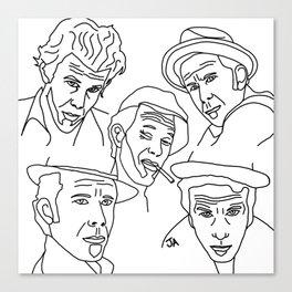 Tom Waits Whisky in a Teacup Canvas Print