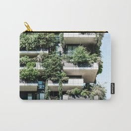 Bosco Verticale, Modern Architecture Print, Urban Jungle, Vertical Forest, Residential Towers Milan, Italy Ecology Architect Carry-All Pouch