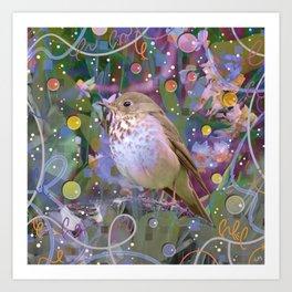 Magical Little Bird (Hermit Thrush) Art Print
