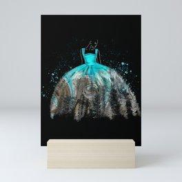 Evening Gown Fashion Illustration #2 Mini Art Print
